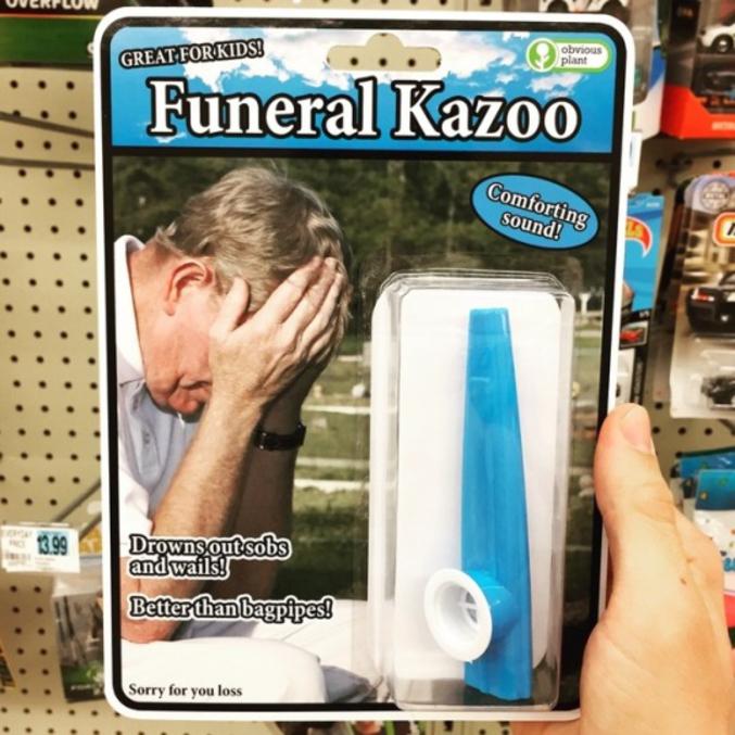 Très pratique pour les funérailles où tu te sens pas très concerné...
