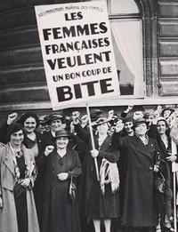 Une manif' en 1937 qui ne se souciait pas de grammaire inclusive