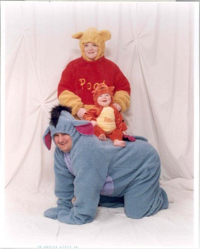 Une famille fan de Winnie l'ourson.