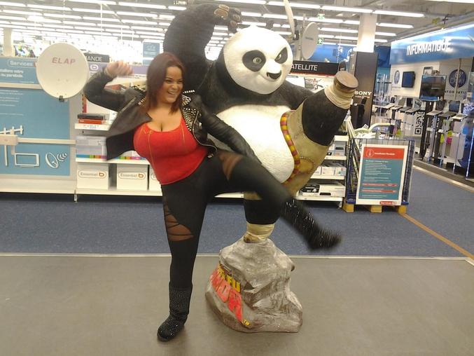 C'est en France, si, si ! On a retrouvé madame Panda !