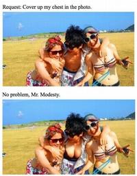Demande de photoshoppage