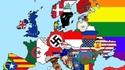 Carte de l'Europe offensante