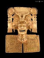 Pectoral mixtèque en or (peuple indigène de Mésoamérique)