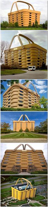 Le Big Basket Building, à Newark, Ohio, a été construit en tant que siège de la Longaberger Company, un fabricant américain de paniers en bois d' érable fabriqués à la main et d'autres produits du quotidien. C'est l'un des exemples les plus célèbres d'architecture mimétique dans laquelle les bâtiments sont conçus pour imiter ou représenter des objets associés à leur fonction.  Depuis 2020 il a été reconverti en hotel.