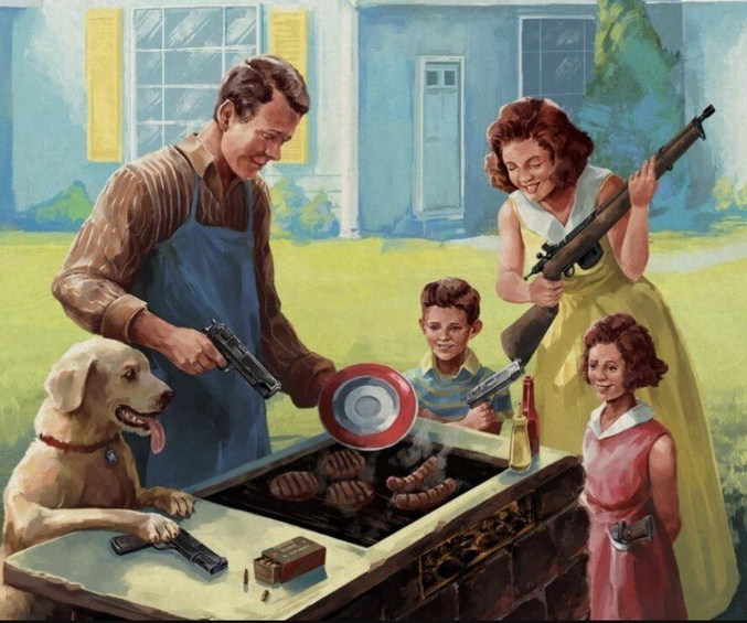 Ce n'est pas une vraie famille Américaine sans flingues