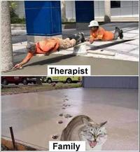 Thérapeute et famille