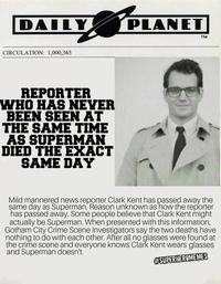 Un homme qui n'a jamais été vu avec Superman meurt le même jour