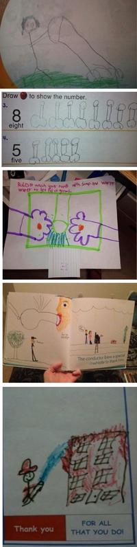 Jeux : dessins d'enfants gentils et innocents