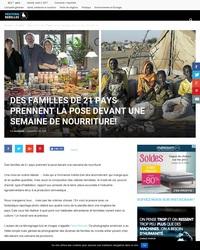 Des familles de 21 pays prennent la pose devant une semaine de nourriture