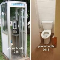 Évolution de la cabine téléphonique