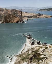 Construction du Golden Gate de San Francisco