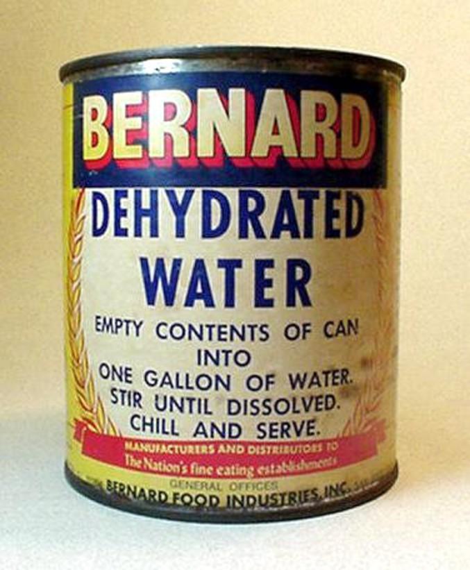 Pour obtenir 1 litre d'eau, ajoutez 1 litre d'eau.