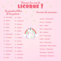 Ton prénom licorne