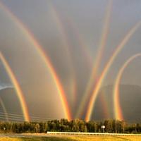 Eight rainbows !