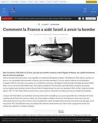 Comment la France a aidé Israël à avoir la bombe