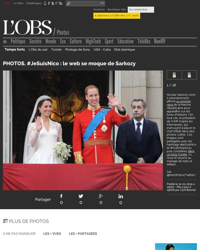 PHOTOS. #JeSuisNico : le web se moque de Sarkozy