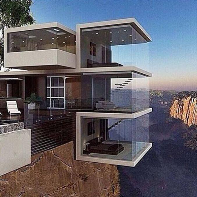 Small Modern House In Australia: Maison D'architecte Sur Un Ravin