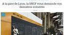 A la gare de Lyon, la SNCF vous demande vos dernières volontés