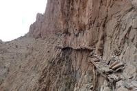 Sentier de promenade à flanc de montagne...
