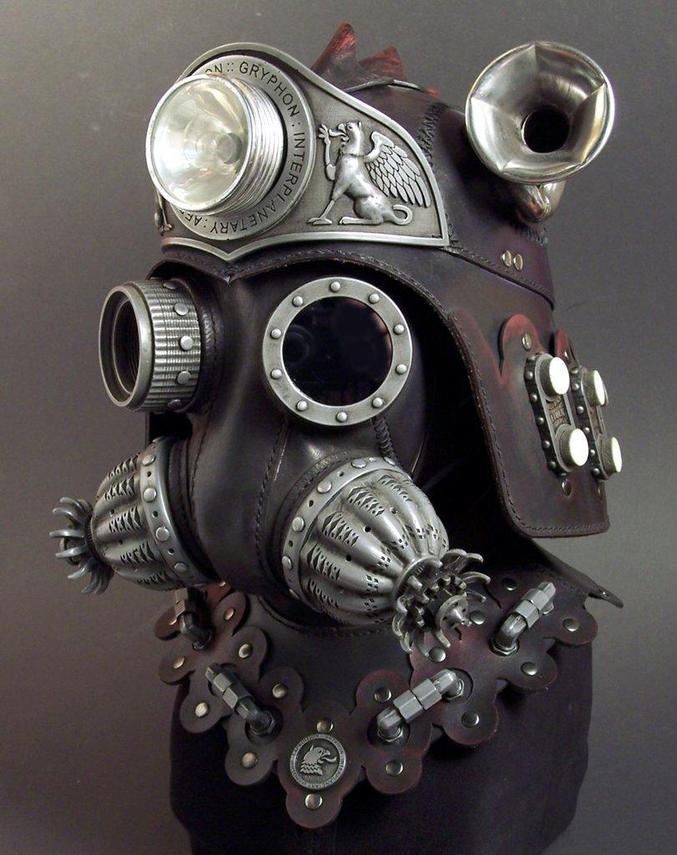 Un casque steampunk réalisé par l'artiste Tom Banwell