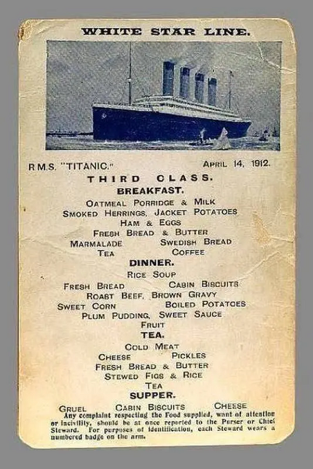 A l'époque, ils ne mégotaient pas avec la fraîcheur des produits.