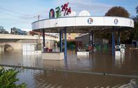 Station inondée