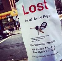Perdu trousseau de clé, ça ouvre tout à l'adresse indiquée
