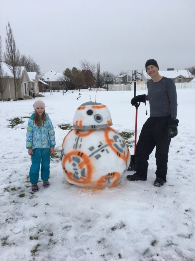 bonhomme de neige par des fans de star wars