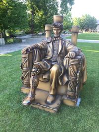 Une statue D'Abraham Lincoln