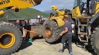 Mise en place d'un pneu