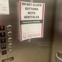 Ne pas appuyer sur les boutons avec vos parties génitales