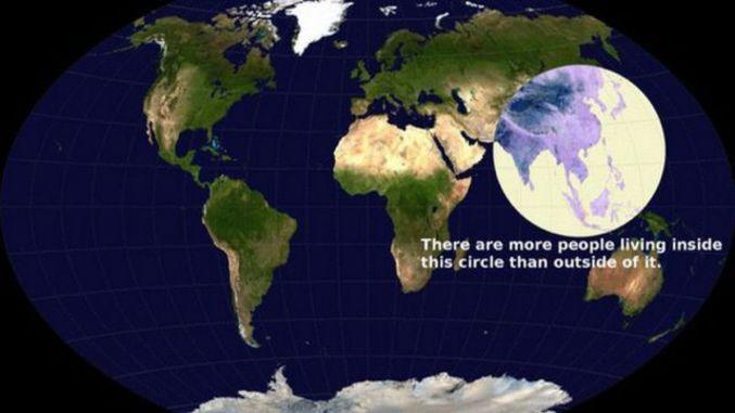 Il y a plus de gens qui vivent dans ce cercle qu'en dehors.