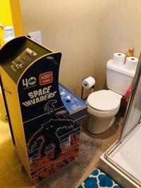 Pour ne pas s'ennuyer auxtoilettes