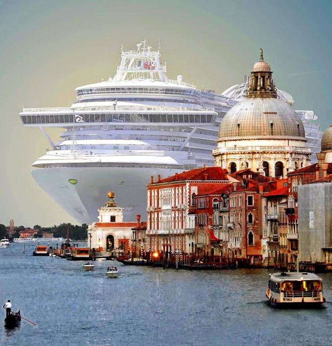 Les bateaux de croisière ne pourront plus naviguer aux abords de Venise, même à vitesse très réduite.