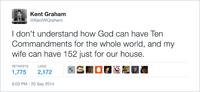 Je ne comprends pas comment Dieu peut avoir seulement 10 commandements...