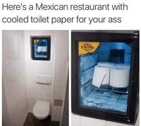 Toilettes de restaurant mexicain