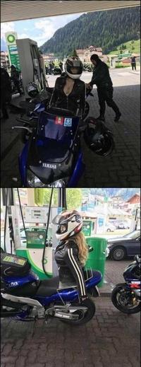 Les motards et leur femme